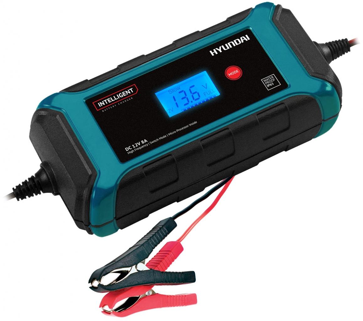 Устройство зарядное АКБ HYUNDAI HY 800 (12В, 8А) зарядное устройство hyundai hy 400