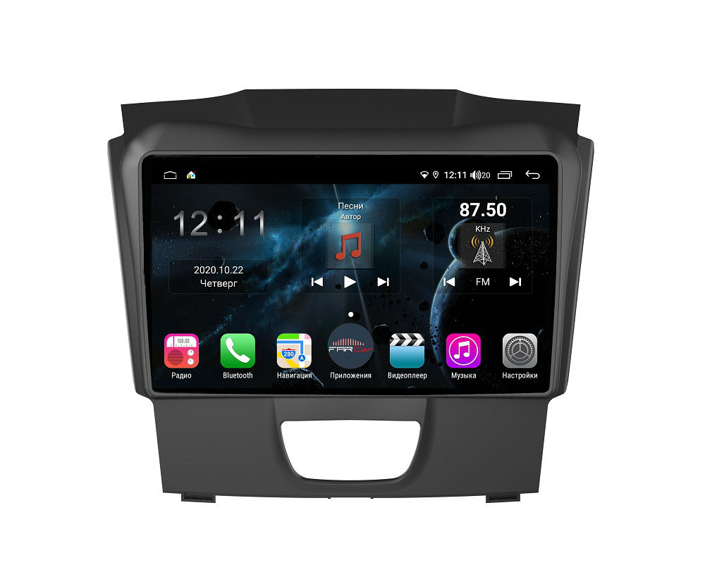 Штатная магнитола FarCar s400 для Chevrolet Colorado, Trailblazer на Android (H435R) (+ Камера заднего вида в подарок!)
