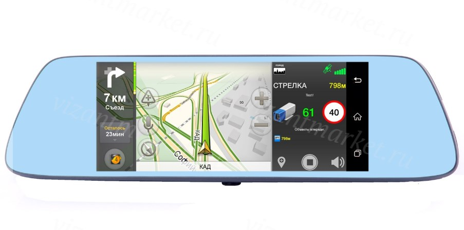 Видеорегистратор в зеркале заднего вида Vizant 955NK на Android original launch golo m diag lite for ios android built in bluetooth obdii diagnostic tool with special functions free ship