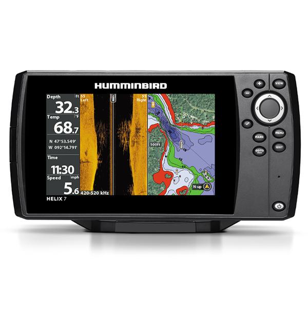Humminbird Helix 7x CHIRP SI GPS G2 (+ Аккумулятор + З/У + Струбцина)Humminbird<br>Эхолот-картплоттер Helix 7x CHIRP SI GPS G2 с новым пользовательским интерфейсом и операционной системой.<br>Эхолот для зимней рыбалки, имеет встроенный флешер для подледной рыбалки.<br><br>Экран разрешением 800H х 480V, диагональю 7  и 256 цветов.<br>Технологии сканирования CHIRP Side Imaging, CHIRP Down Imaging и CHIRP DualBeam PLUS.<br>Мощность 4000 Вт.<br>Встроенный скоростной GPS-приемник и предустановленный картографический пакет UniMap и встроенный картплоттер.<br>Микро-SD слот для навигационных карт или для сохранения путевых точек.<br>Охват сонара:20°, 60°, (2) 86°. Максимальная глубина500 м.