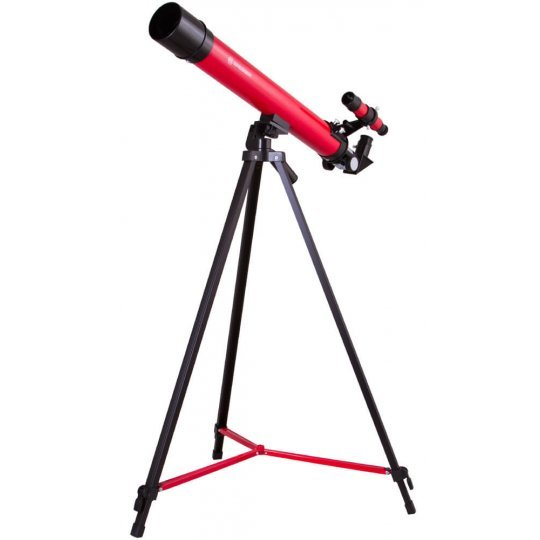 Телескоп Bresser Junior Space Explorer 45/600 AZ, красный (+ Книга «Космос. Непустая пустота» в подарок!)