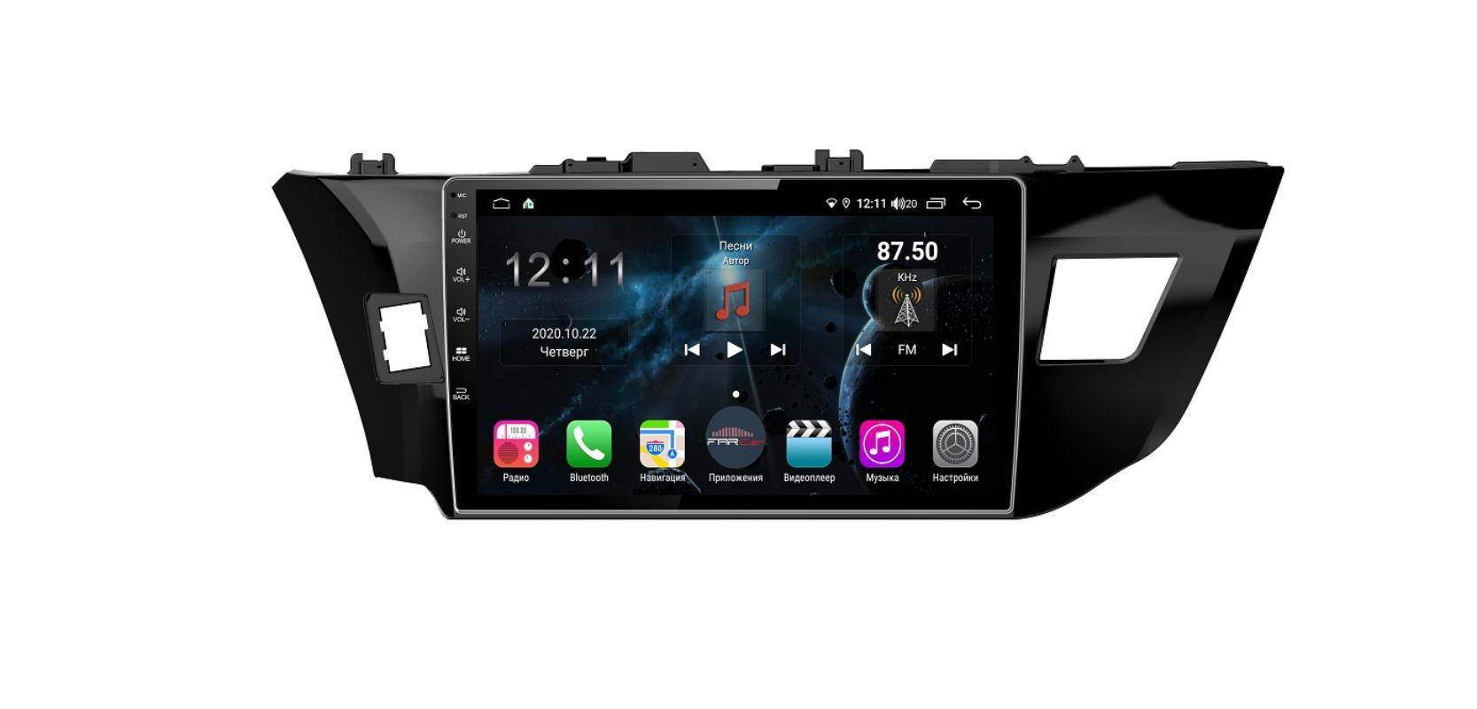Штатная магнитола FarCar s400 для Toyota Corolla на Android (TG307R) (+ Камера заднего вида в подарок!)