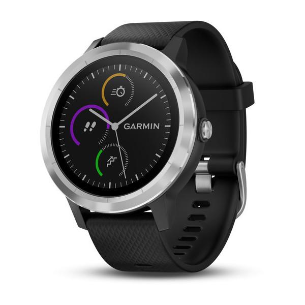 Garmin Vivoactive 3 серебристые с черным ремешком garmin умные часы garmin fenix chronos titanium титановый