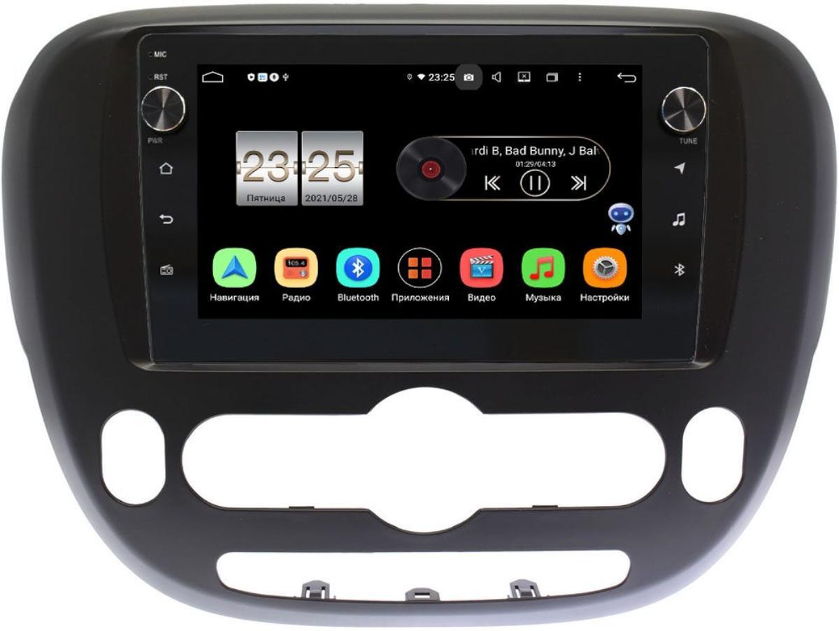 Штатная магнитола Kia Soul II 2013-2019 (с климат-контролем) LeTrun BPX609-9390 на Android 10 (4/64, DSP, IPS, с голосовым ассистентом, с крутилками) (+ Камера заднего вида в подарок!)