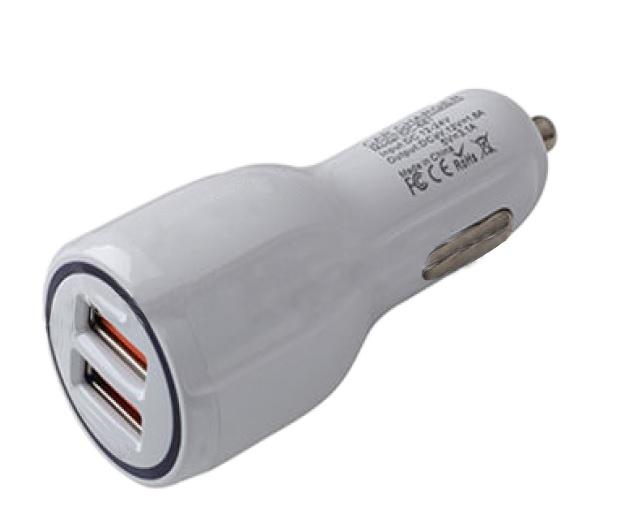 Автомобильное зарядное устройство AVS UC-123 Quick Charge (2-USB,2,4А)