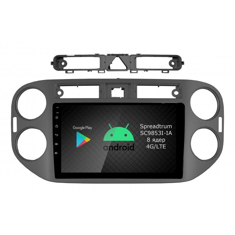 Штатная магнитола Roximo RI-3704 для Volkswagen Tiguan, 2010-2016 (Android 9.0) (+ Камера заднего вида в подарок!)