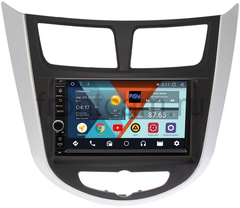 Штатная магнитола Wide Media WM-VS7A706NB-RP-HDSL-19 для Hyundai Solaris I 2011-2017 Android 7.1.2