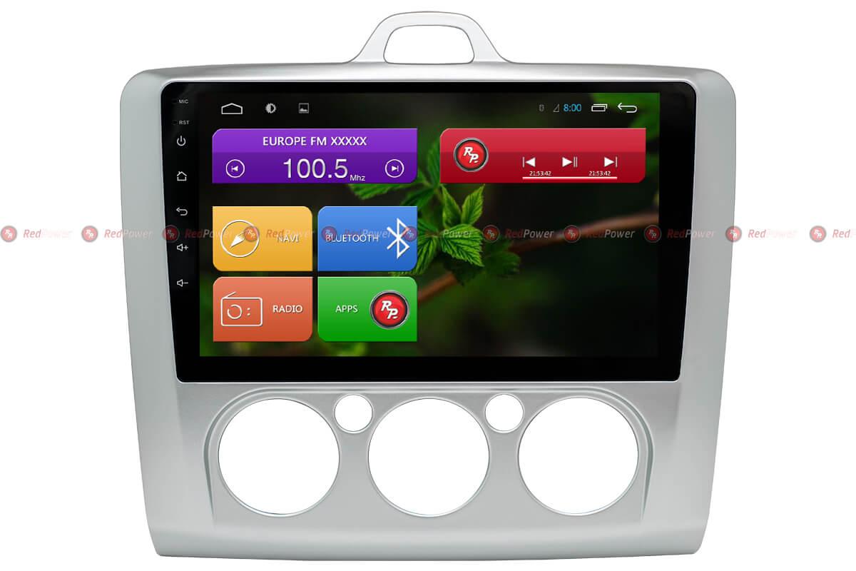 Штатная магнитола Redpower 31137 IPS DSP Ford Focus (серая) (2005-2011) Android 7 (+ Камера заднего вида в подарок!)