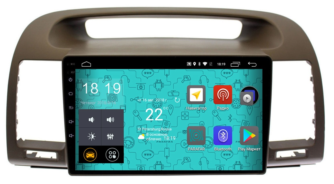 Штатная магнитола Parafar 4G/LTE с IPS матрицей для Toyota Camry v30 до 2006 на Android 7.1.1 (PF061) (+ Камера заднего вида в подарок!)