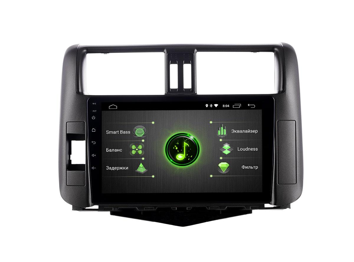 Штатная магнитола INCAR DTA-2207 для Toyota Prado 150 (2009-2013) Android 10 с процессором DSP (+ Камера заднего вида в подарок!)