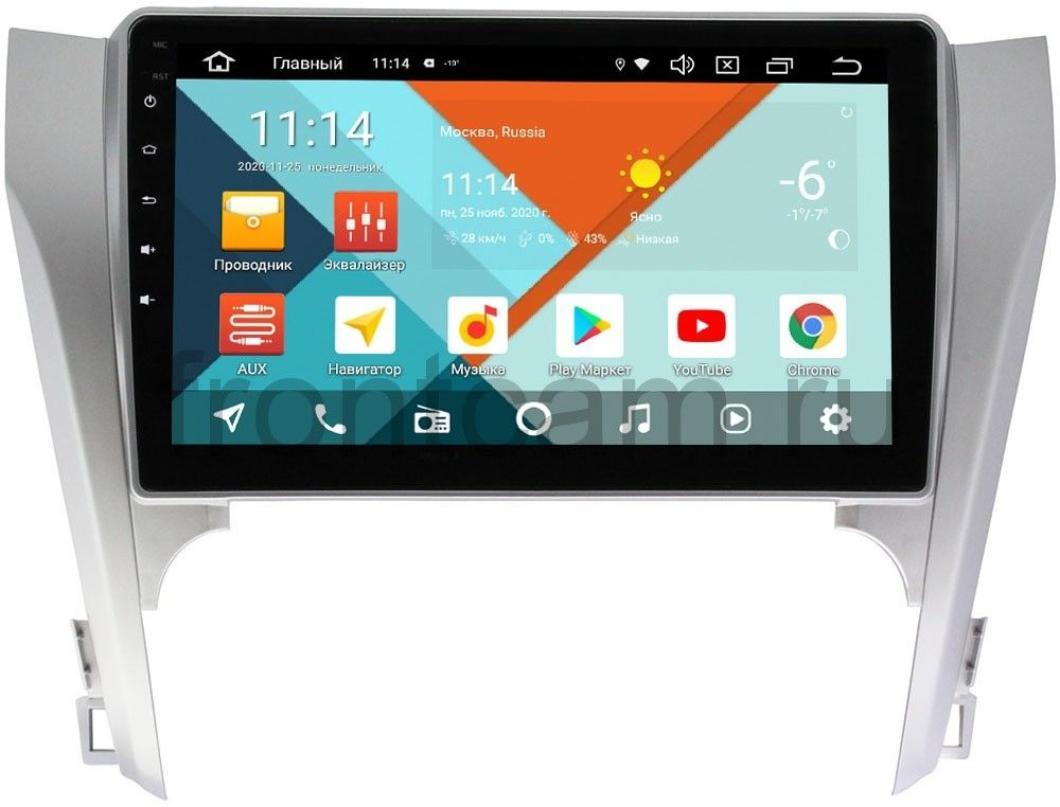 Штатная магнитола Wide Media KS1003QR-3/32 DSP CarPlay 4G-SIM для Toyota Camry V50 на Android 10 (для авто с камерой, JBL) (+ Камера заднего вида в подарок!)