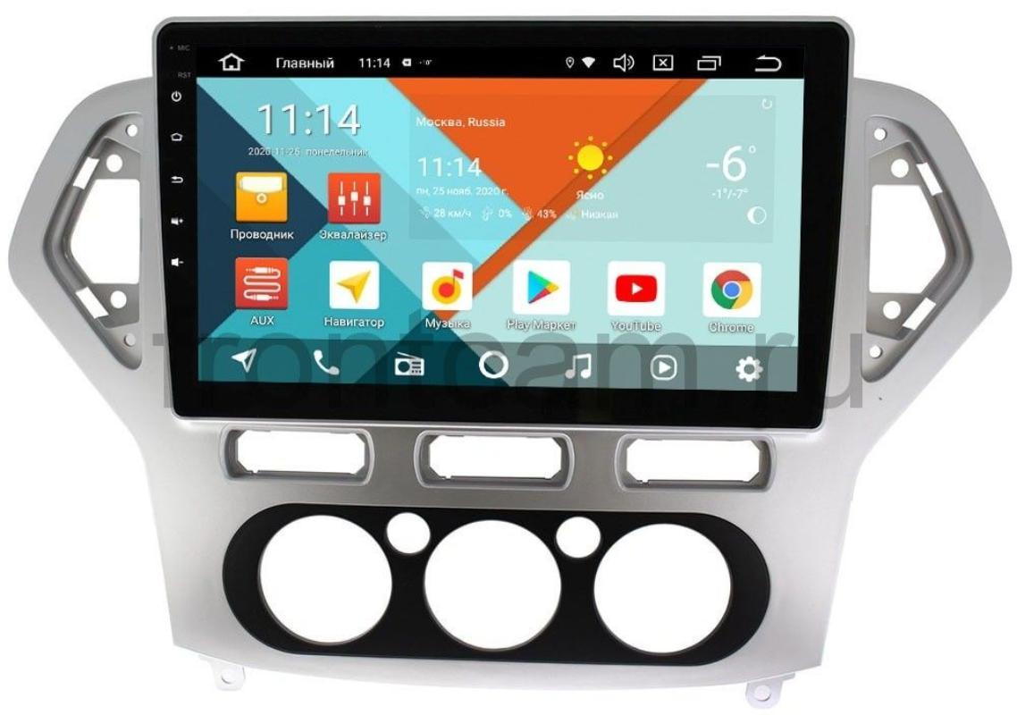 Штатная магнитола Ford Mondeo IV 2007-2010 Wide Media KS1017QM-2/32 DSP CarPlay 4G-SIM для авто с кондиционером на Android 10 (+ Камера заднего вида в подарок!)