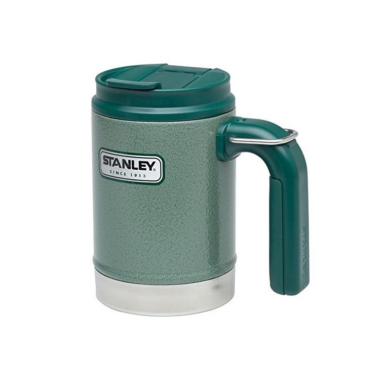 Термокружка Stanley Classic Vacuum Camp Mug Hammertone (0.47л) зеленая