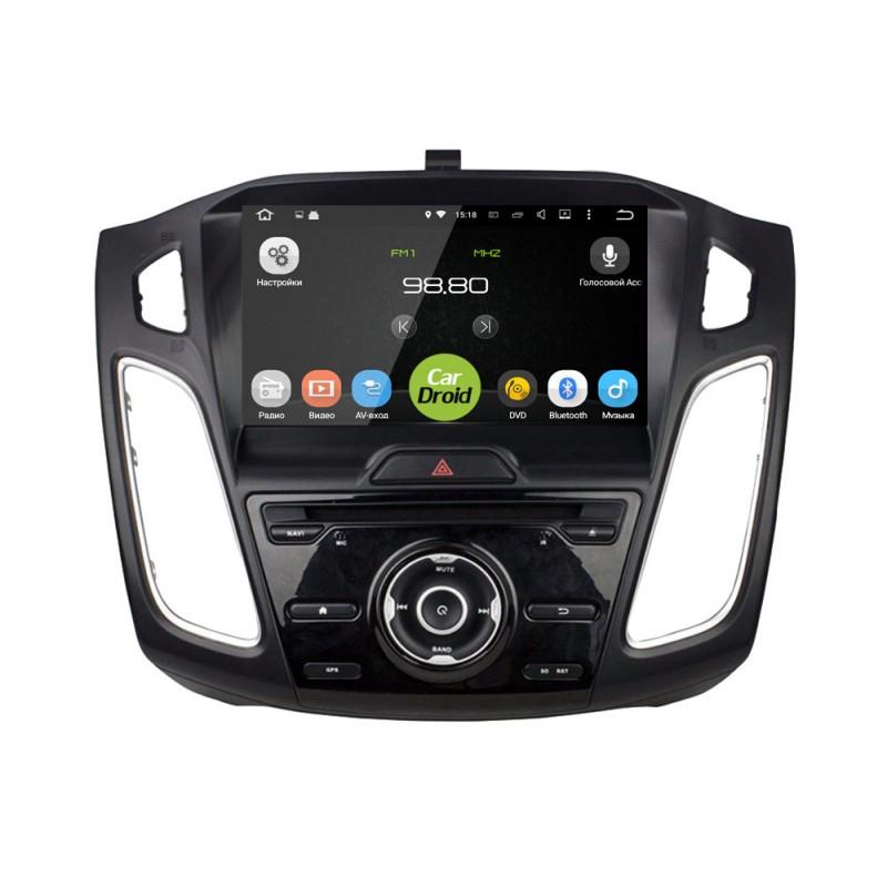 Штатная магнитола Roximo CarDroid RD-1705D для Ford Focus 3 (2015+) (Android 8.0) DSP (+ Камера заднего вида в подарок!)