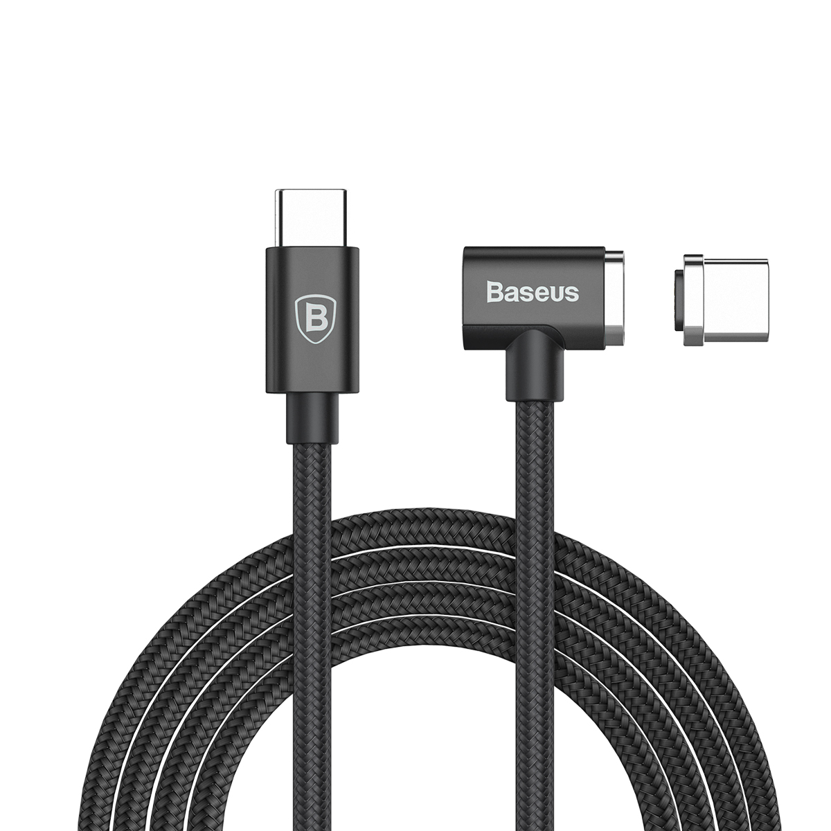 Магнитный кабель Baseus Magnet Type-C cable(Side insert) For Type-C 1.5M Черный цена и фото