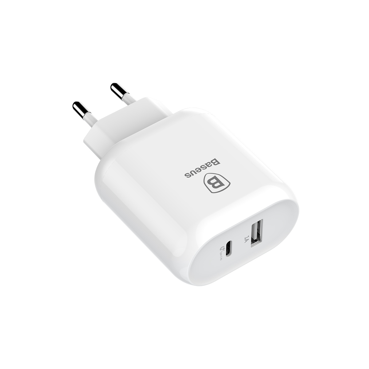 Сетевое зарядное устройство Baseus Bojure SeriesType-C PD+U quick charge charger EU 32W set White