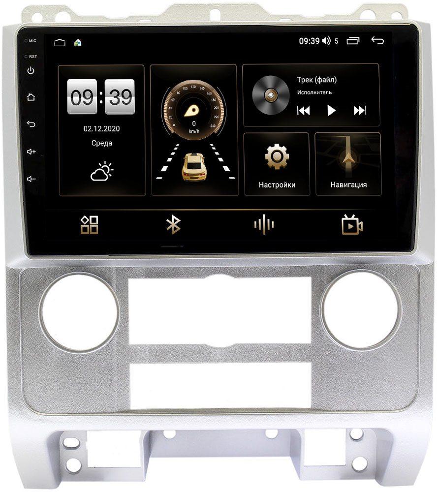 Штатная магнитола LeTrun 4196-9278 для Ford Escape II 2007-2012 (серая) на Android 10 (6/128, DSP, QLed) С оптическим выходом (+ Камера заднего вида в подарок!)