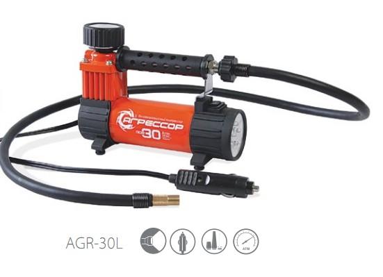 Компрессор автомобильный Агрессор AGR-30L компрессор для шин 12v 14