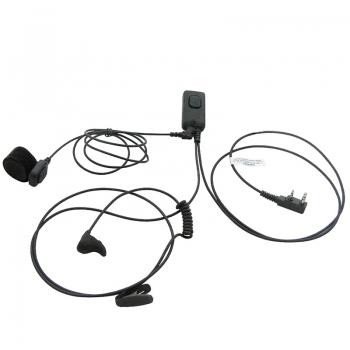 Гарнитура для рации Turbosky TK-6Гарнитуры на рации<br>Профессиональная ушная, динамик и микрофон все в одном наушнике, ларингофонная гарнитура с выносной кнопкой. Разъём - Kenwood, вес 100 г.