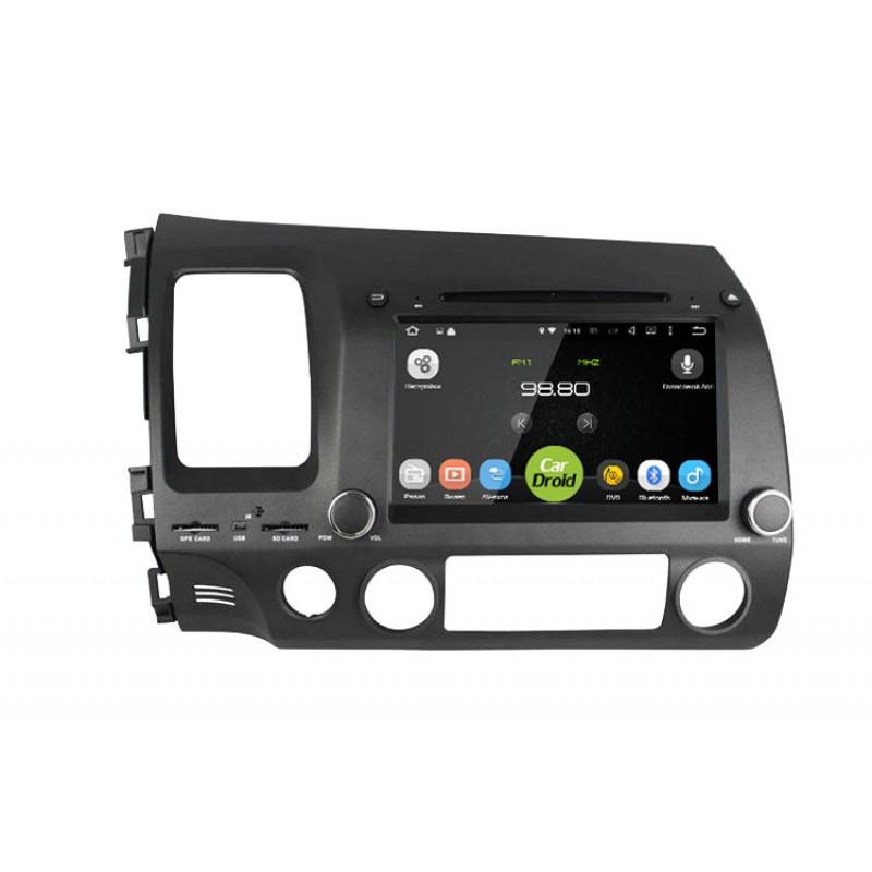 Штатная магнитола Roximo CarDroid RD-1901D для Honda Civic 8 4D (Android 8.0) DSP (+ Камера заднего вида в подарок!)