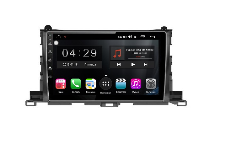 Штатная магнитола FarCar s300 для Toyota Highlander на Android (RL467R) (+ Камера заднего вида в подарок!)