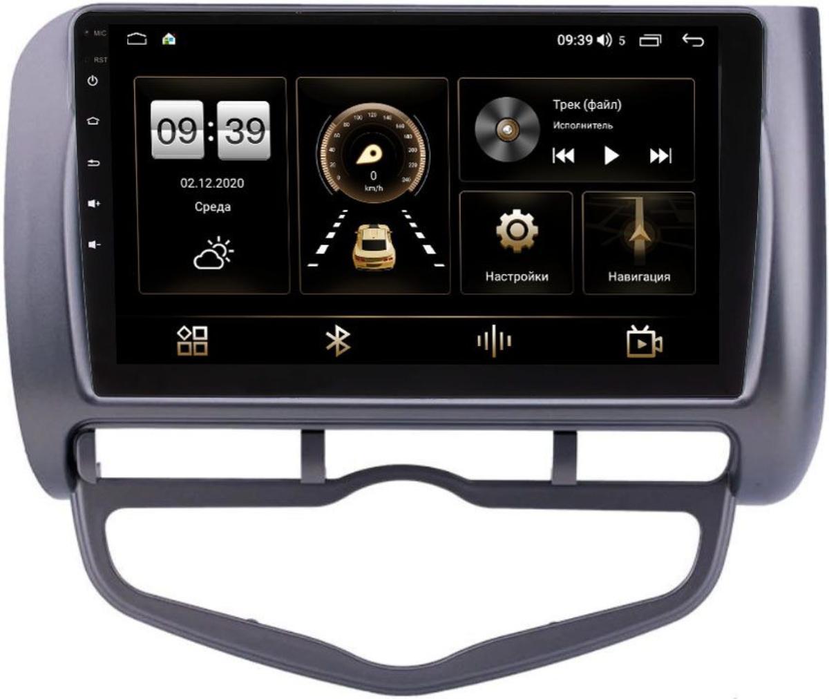 Штатная магнитола Honda Jazz I 2001-2008 (левый руль) LeTrun 4196-9267 на Android 10 (6/128, DSP, QLed) С оптическим выходом (+ Камера заднего вида в подарок!)