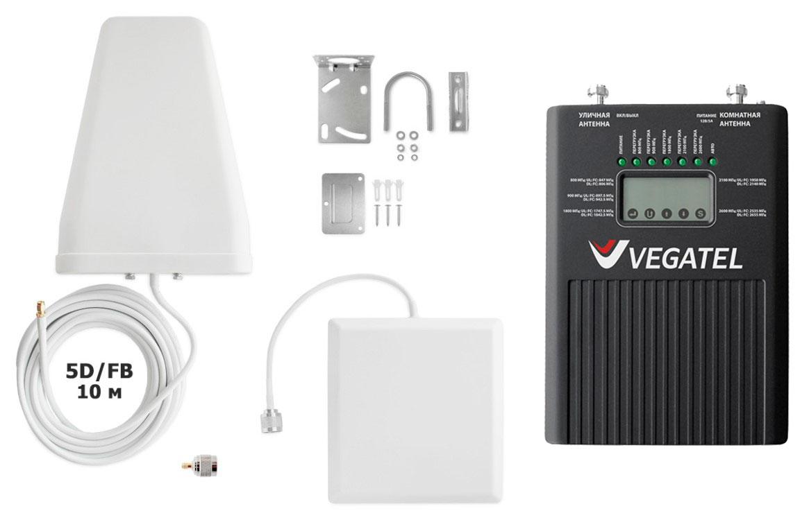 Пятидиапазоннный комплект VEGATEL VT2-5B kit (2G,3G,4G) (+ Кронштейн в подарок!)