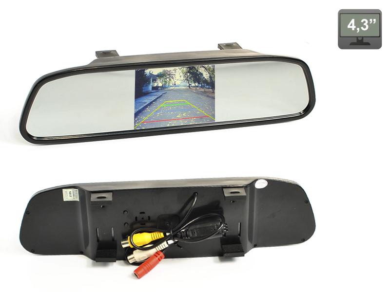 Зеркало заднего вида со встроенным монитором 4.3 AVIS AVS0401BM