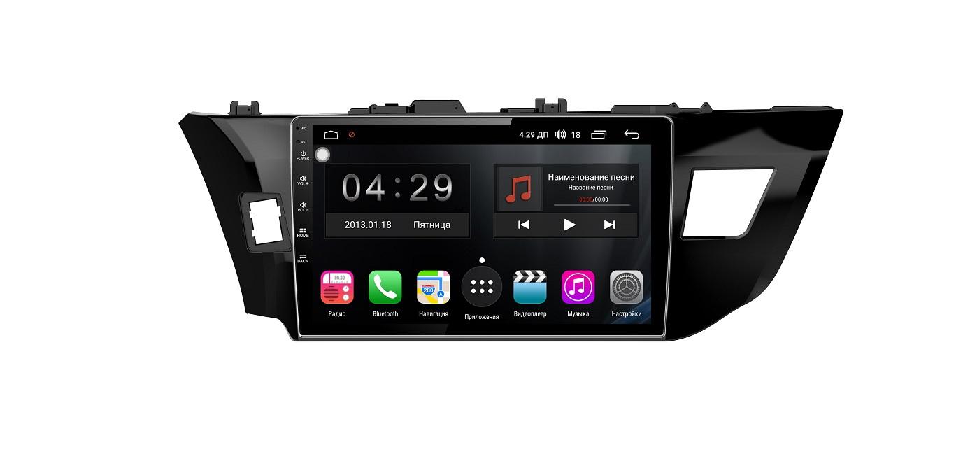 Штатная магнитола FarCar s300-SIM 4G для Toyota Corolla 2013-2016 на Android (RG307R) (+ Камера заднего вида в подарок!) штатная магнитола carmedia ol 1255 8 c500 jeep compass 2016