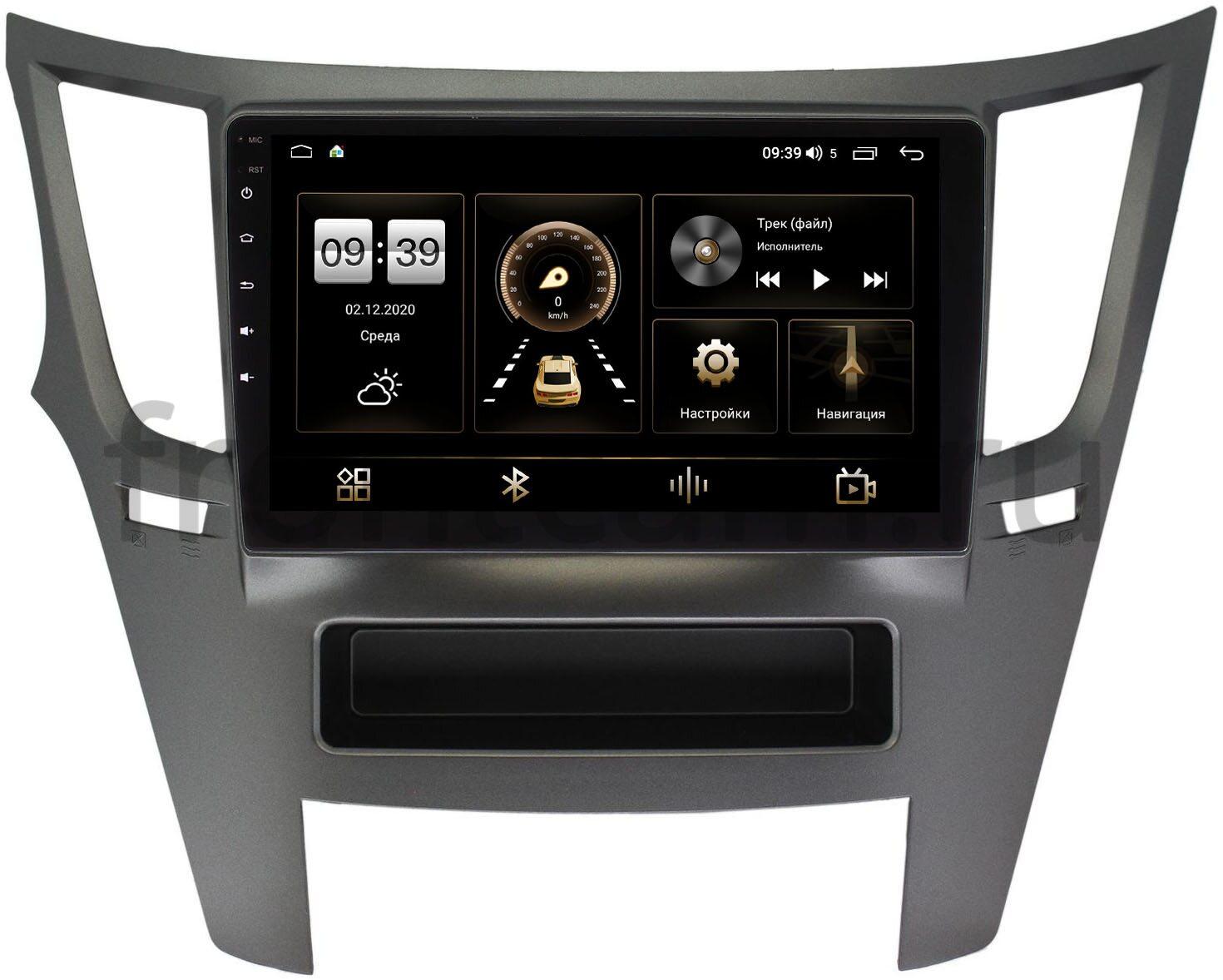 Штатная магнитола Subaru Legacy V 2009-2014, Outback IV 2009-2014 LeTrun 4166-9051 на Android 10 (4G-SIM, 3/32, DSP, QLed) (+ Камера заднего вида в подарок!)