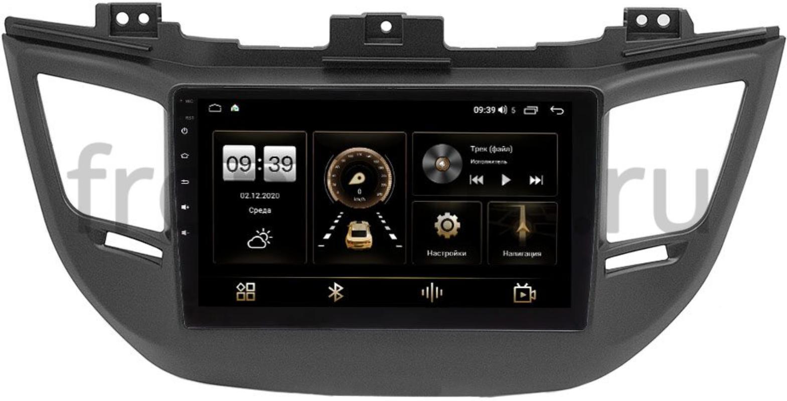 Штатная магнитола LeTrun 4196-9-064-1 для Hyundai Tucson III 2015-2018 на Android 10 (6/128, DSP, QLed) С оптическим выходом для авто с камерой (+ Камера заднего вида в подарок!)