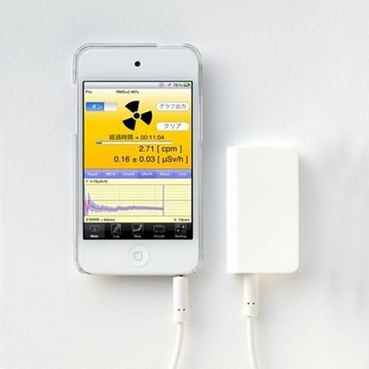 Дозиметр портативный Pocket Geiger для Iphone/ Ipad/ Ipod (Type4) (+ Поливные капельницы в подарок!) дозиметр индикатор радиоактивности radex rd1008