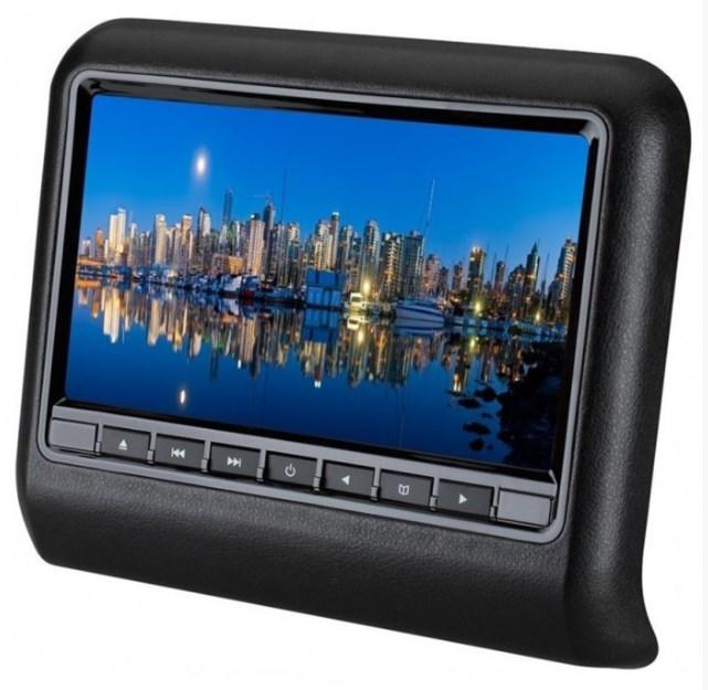 Навесной монитор на подголовник с диагональю 9 и встроенным DVD плеером Carwinta ER9L (+ наушники в подарок!) power dvd проигрыватель скачать