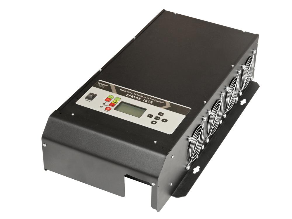 Инвертор DC-AC с зарядным устройством, 12В/1500Вт ЕРМАК 1512 преобразователь напряжения инвертор с usb портом 150 вт 12в dc 220в ac koto 12v 503 0975607602
