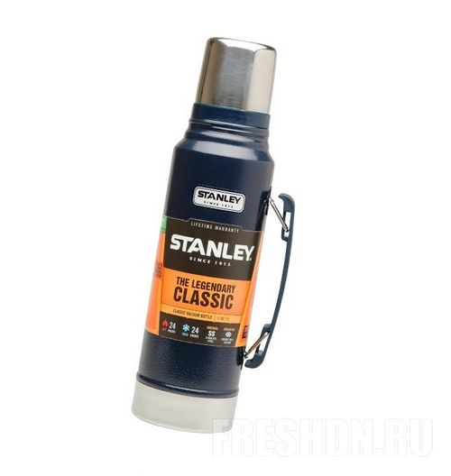 Термос Stanley Classic Vacuum Flask (1л) синий термос outwell aden vacuum flask 600ml 650417