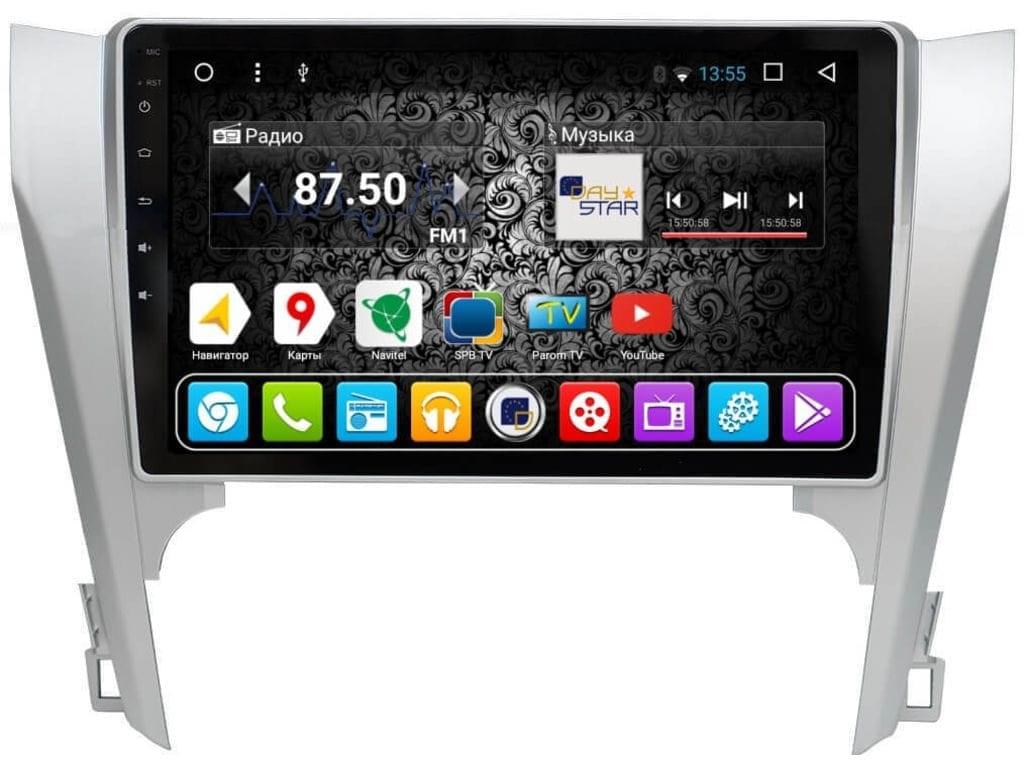 Штатная магнитола DayStar DS-7048HB Toyota Camry V50 2012-2014 ANDROID 8.1.0 (8 ядер, 2Gb ОЗУ, 32Gb памяти) (+ Камера заднего вида в подарок!) штатная магнитола daystar ds 7082hd opel astra j android 8 1 0 8 ядер 2gb озу 32gb памяти камера заднего вида в подарок