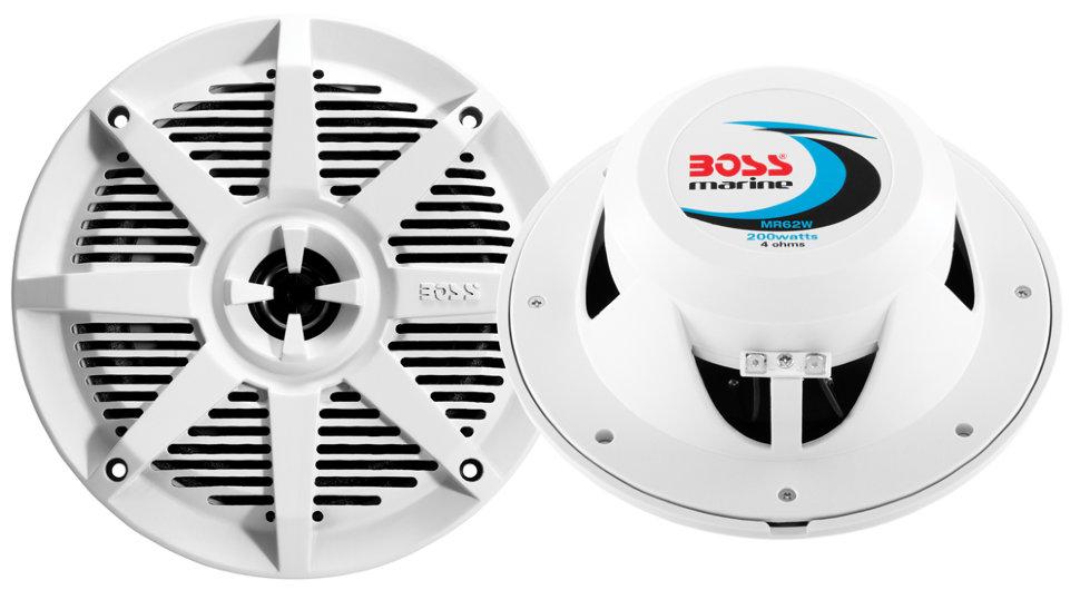 Влагозащищенные динамики BOSS Audio Marine MR62W (6.5, 200 Вт.) белый
