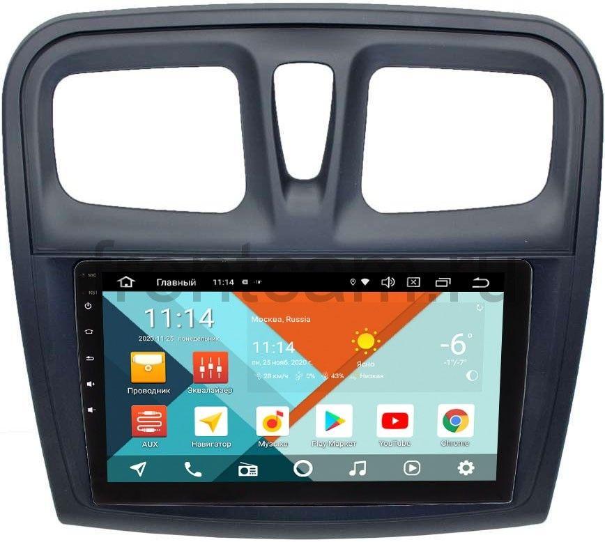 Штатная магнитола Renault Logan II, Sandero II 2013-2020 Wide Media KS9-3010QR-3/32 DSP CarPlay 4G-SIM Android 10 (+ Камера заднего вида в подарок!)