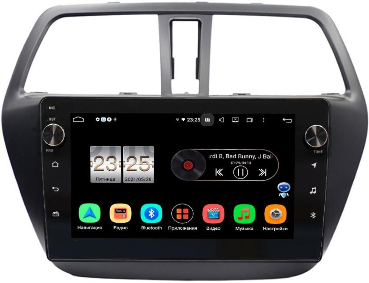 Штатная магнитола LeTrun BPX409-9217 для Suzuki SX4 II 2013-2021 на Android 10 (4/32, DSP, IPS, с голосовым ассистентом, с крутилками) (+ Камера заднего вида в подарок!)