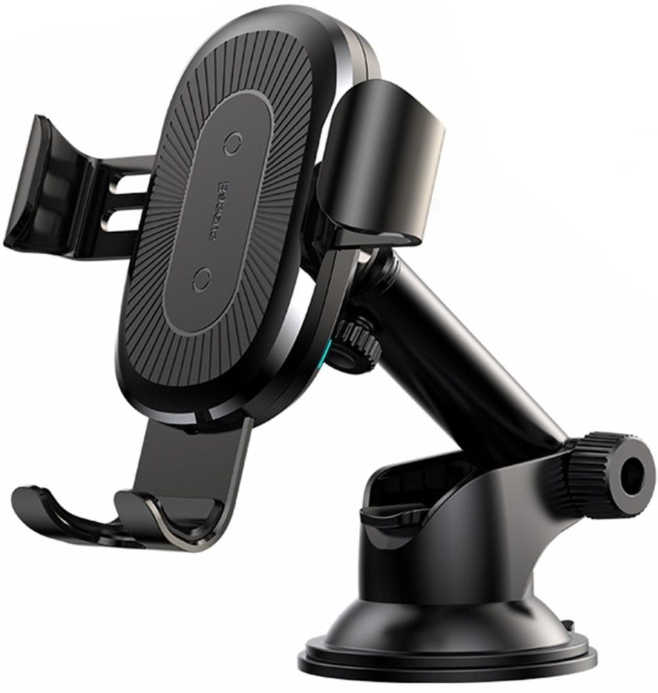 Автомобильный держатель с беспроводной зарядкой Baseus Wireless Charger Gravity Car Mount (WXYL-A01) black