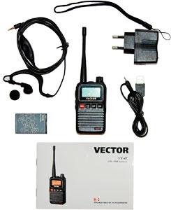 Портативная рация vector vt-43 r2 купить, 2 810 руб.