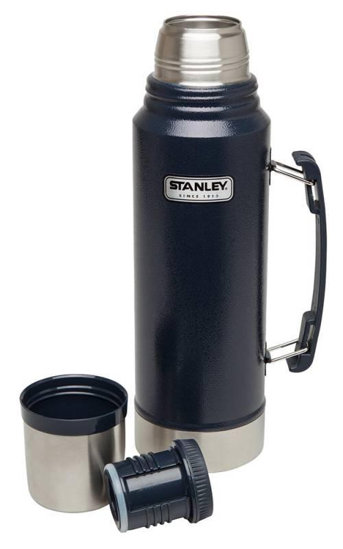 лучшая цена Синий термос STANLEY Classic 1L 10-01254-042 (+ Поливные капельницы в подарок!)