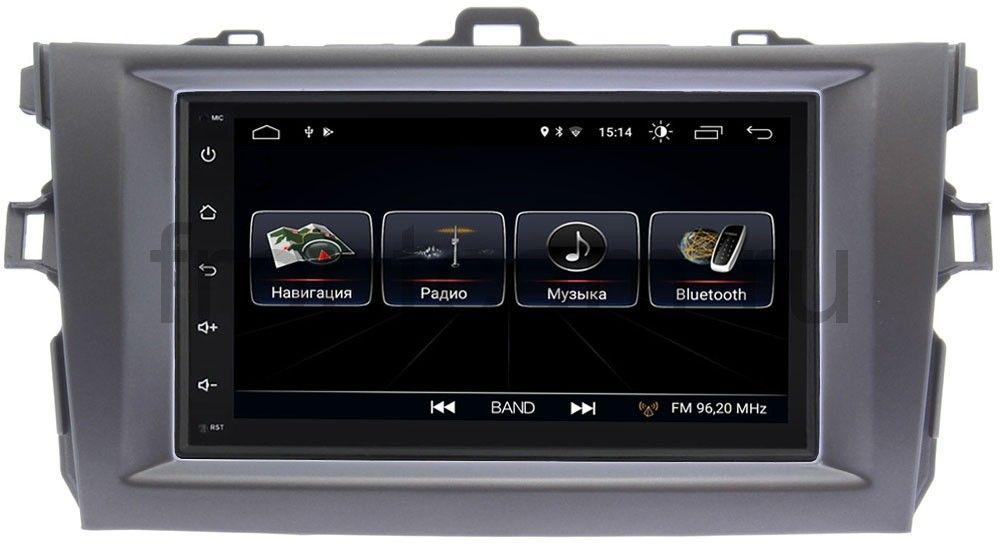 Штатная магнитола LeTrun 2380-RP-TYCV14Xc-11 для Toyota Corolla X (E140, E150) (2006-2013) (темно-серая) Android 8.0.1 MTK-L (+ Камера заднего вида в подарок!) for 11 13 e140 toyota corolla s 10