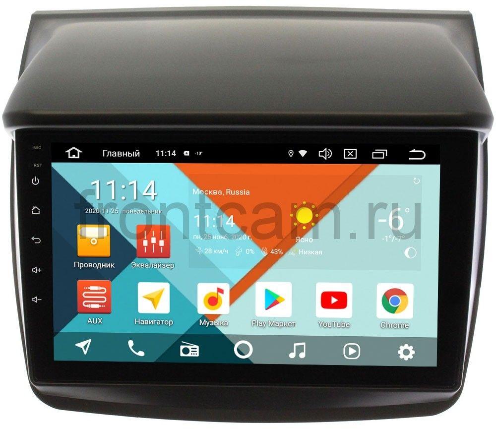 Штатная магнитола Wide Media KS9057QR-3/32 DSP CarPlay 4G-SIM для Mitsubishi Pajero Sport II 2008-2014, L200 IV 2006-2015 на Android 10 для авто без Navi (+ Камера заднего вида в подарок!)