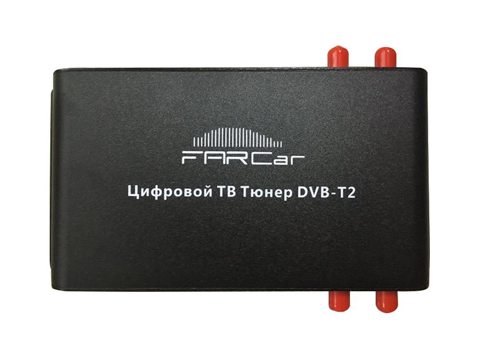 Цифровой автомобильный ТВ тюнер DVB-T2 FarCar (4 антенны) тв тюнер ресивер oriel цифровая приставка 421d dvb t2 c page 10 page 9