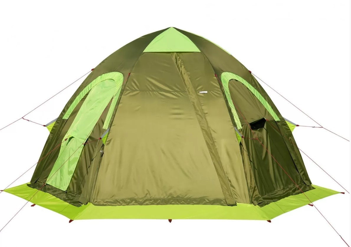 Всесезонная универсальная палатка Лотос 5У Шторм (оливковый цвет) (+ Дарим комплект ввертышей для палаки.) velante 588 703 05