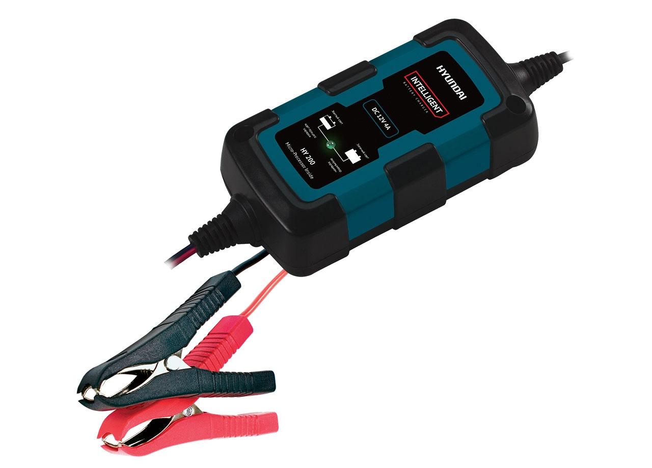 Устройство зарядное автоматическое АКБ HYUNDAI HY 200 (12В, 1.5А) зарядное устройство hyundai hy 400