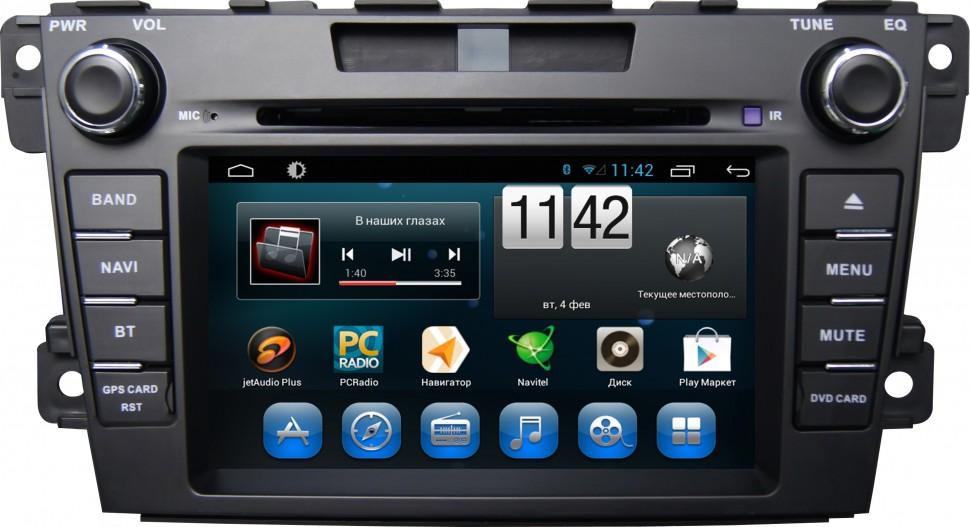 Штатная магнитола CARMEDIA KR-7035-T8 для Mazda CX-7 2006-2011 Android 7.1 штатная магнитола carmedia nm 9040 dvd volkswagen tiguan 2007 2016 до и после рестайлинга golf plus