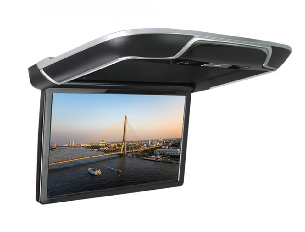 Автомобильный потолочный монитор Full HD 13,3 ERGO ER13AND на ANDROID (черный) (+ Беспроводные наушники в подарок!) автомобильный потолочный монитор 17 3 с медиаплеером farcar z002 черный беспроводные наушники в подарок