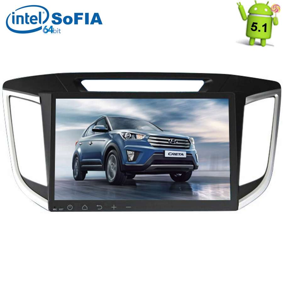 Штатная магнитола LeTrun 1726 для Hyundai Creta Android 5.1 7060b 7 inch 12v auto 2 din bluetooth tft screen car audio stereo mp3 mp4 mp5 player support aux fm usb sd mmc